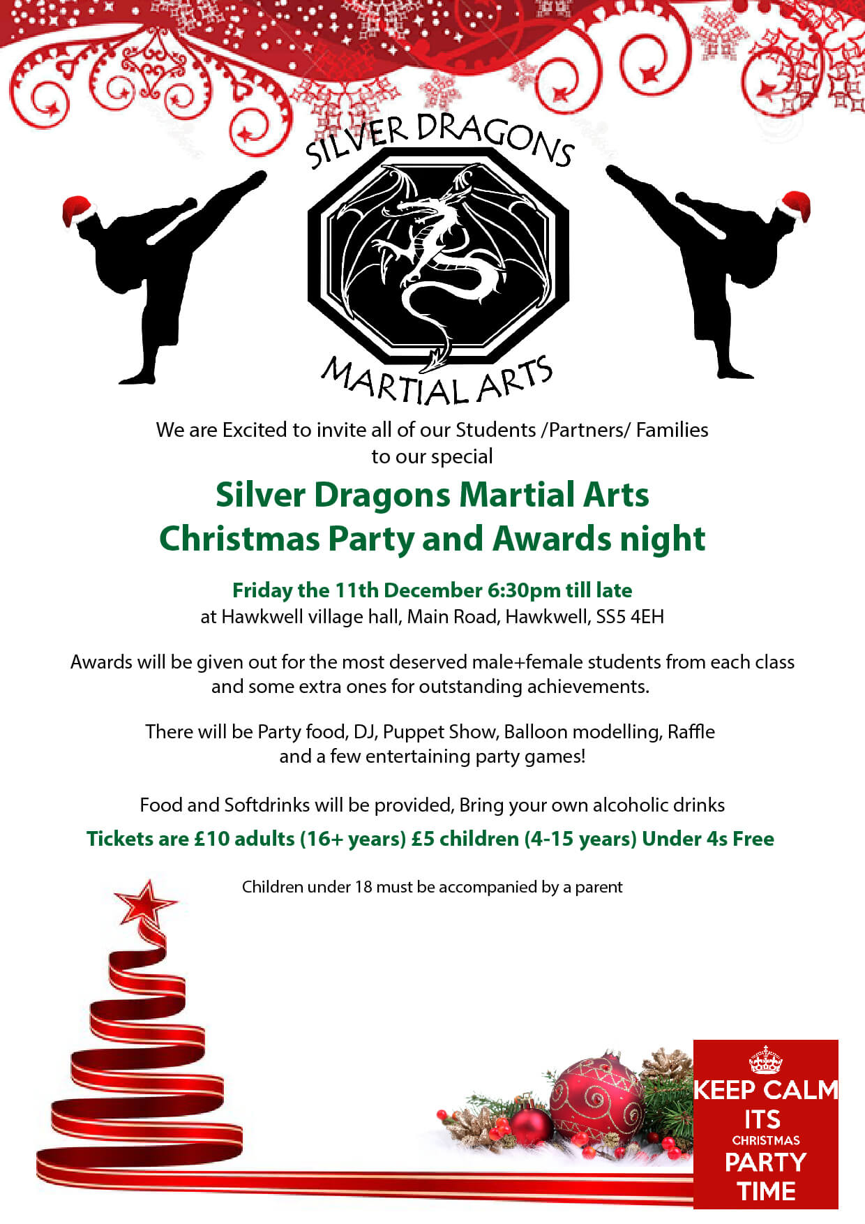 Silver Dragons Christmas party 2015
